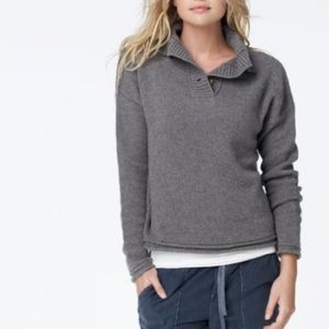 James Perse Cashmere Funnelneck Henley Sweater 2/M